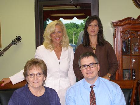 Pictured here are (seated l - r)  Jane Mee/Family Caregiver Coordinator/VolunteerCoordinator/Expo Coordinator, Bryan Boles, Assistant Administrator Area Agency on Aging. (standing l - r)  Wendy Askins, Executive Director, UCDD/AAAD and Holly Williams Assistant Administrator Area Agency on Aging.