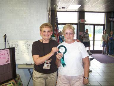 Marcia Radtke, judge, with Penny Symington
