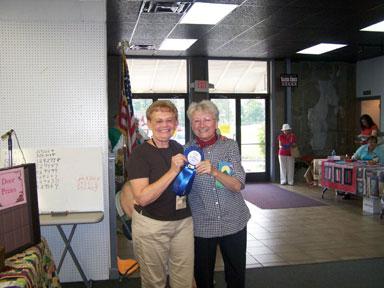 Marcia Radtke, judge, with Alice Taylor