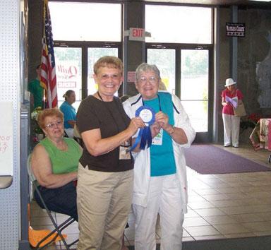 Marcia Radtke, judge, with Sallye Sykes