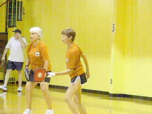 Ellen Flynn and Betsy Moore won six medals in Pickleball.