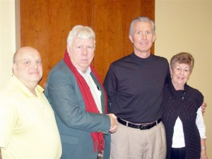 Left to right: James Huston, Treasurer; Howard Hickerson, Vice President; Jim Oswald, President and Teva Rainey, Secretary.