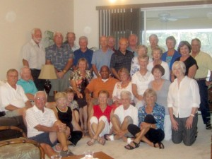 he Fairfield Glade group — 28 strong — assembled at the Florida winter home of Jerry and Carol Schahrer on Feb. 9, prior to the show that featured Terry Henderson (middle, orange shirt) in Punta Gorda, Fla.
