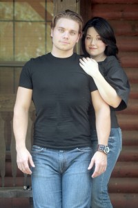 Nate Hackman, left, and Nicole Begue will be in concert at the Playhouse on March 30.