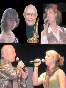 Left to right, Cheyenne Graff, Frank Sexton, Terri Ann Utsey, Dennis Donald and Ashley Krohn will perform April 1.