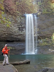 Bill Eldridge poses at Upper Cloudland Canyon Falls, which will be the first hike in May for TTA.