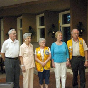Pictured, left to right, are new Fairfield Glade Lions Club members and their sponsors. New members Robert and Virginia Schneider, Sponsor Mary Ellen Froehlich, New member Cathy Muldoon and Sponsor Ed Froehlich.