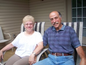 Evelyne and Elliot Kornreich are pictured relaxing on their deck. They have been KOTR mentors for the past several years , gaining much joy and personal satisfaction.