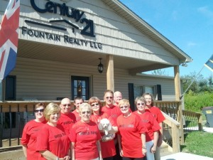 Pictured are several of the United Fund volunteers that  gathered at Century 21 to receive their street assignments.