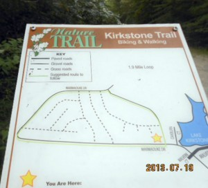 A map at the start of Kirkland Trail.