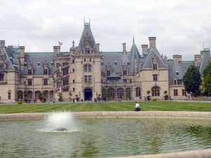 Pictured above is the front entrance to the Biltmore House — its 250 rooms make it the largest home in America.