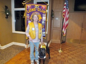 A new Leader Dog was delivered to Donna Taylor on January 17th. The Leader Dog Trainer will spend the next 10-14 days working to get dog and Donna to know each other. The dog is a 22 month old female Black Labrador named LUNA.
