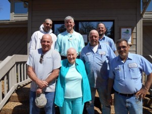 Fairfield Glade team members giving their support to Relay for Life are: (front row, left to right) Robert Jackson, Irene Wallace, Joe Miller. Second Row:  Tim Revis. Back Row, left to right: Tyler Lyon, Bob Weber, Keith Gardner.