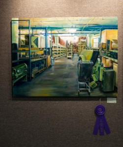 "Pcitured above is the Best of Show by Barbara Johnson ""Where to Go From Here"""