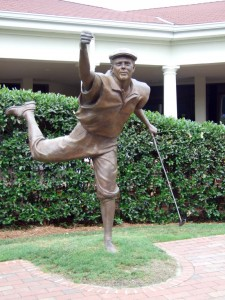 Pinehurst hosted the tournament for the first time since 1999 when the late Payne Stewart (statue above) won in dramatic fashion with a clutch putt on the final hole. It was the third U.S. Open that Tewalt has worked and the 17th PGA event overall.