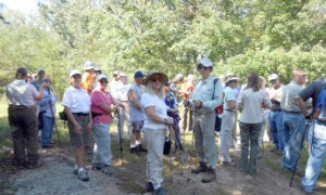 Members of the Fairfield Glade Hiking group prepare to hike.