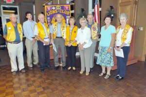 Pictured (L-R) are new members and sponsors for the FFG Lions Club. Sponsor Roger Quackenbush, new member Russell West, new member Bill Green, Sponsor Bob Seabrook, New member Mary Green, new member Genie Gruber, Sponsor Bob Gruber, new member Jean Smith and Sponsor Lion President Carol Pontius.